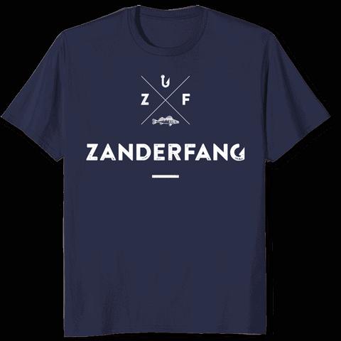 Zanderfang-T-Shirt-blau