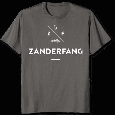 Zanderfang Logo T-Shirt grau