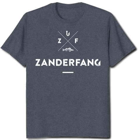 Zanderfang Angel T-Shirt anthrazit blau