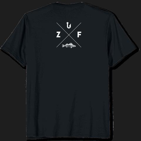 Angel T-Shirt schwarz Zanderfang Logo