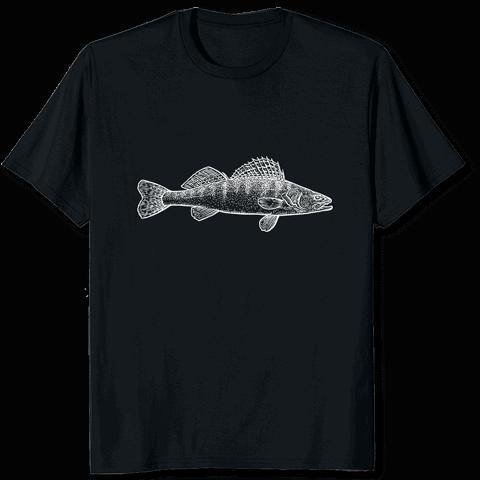 Zanderfang Tshirt Zander schwarz