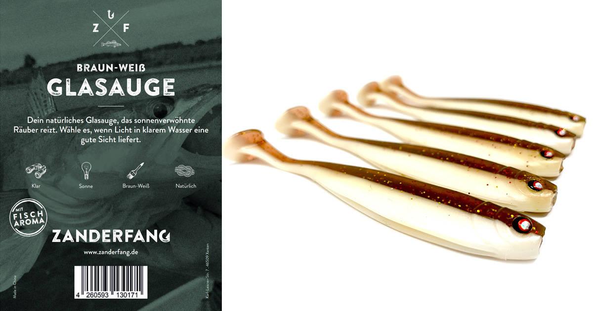Glasauge Gummifische braun-weiss