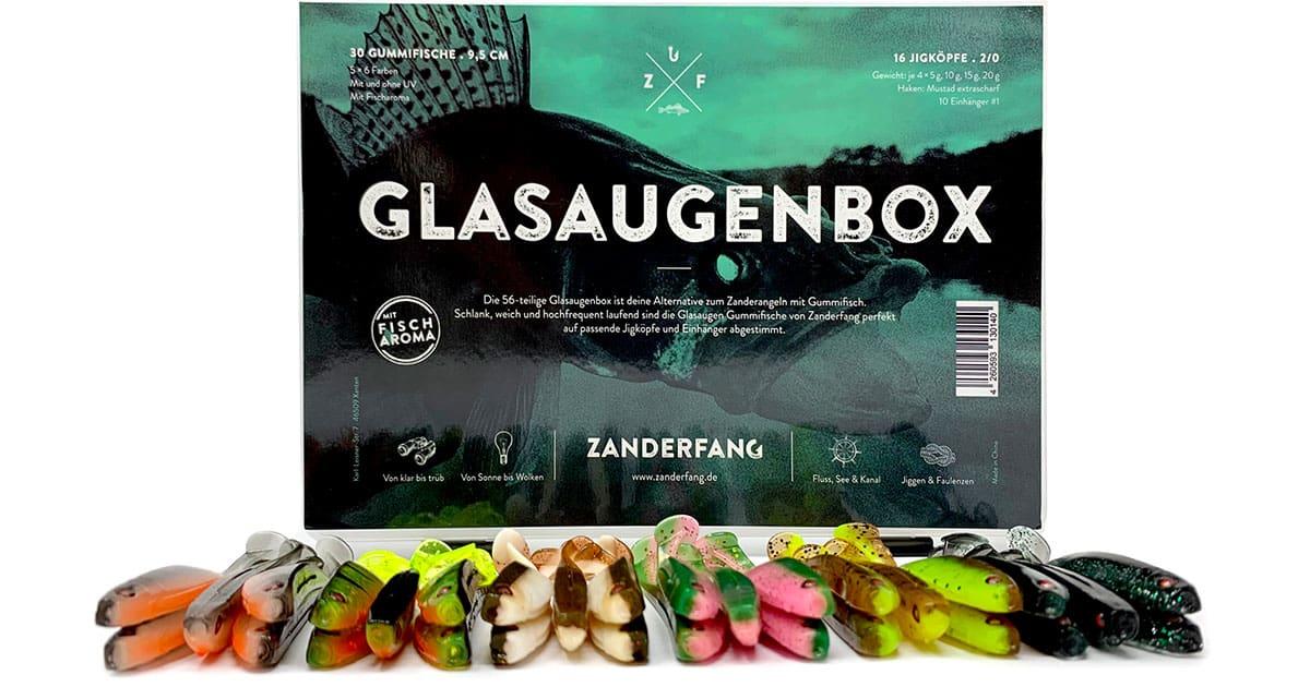 Glasaugenbox 30 Gummifische von Zanderfang